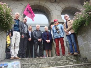 14 juin 2018 - soutien à Edith LE GOFFIC au TASS de St Brieuc
