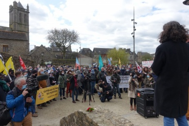6 avril : soutien à Morgan LARGE à ROSTRENEN