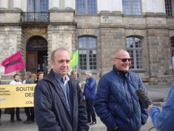 6 juin 2017 - Tass à Rennes : soutien à C. Le Guyader et P. Brigant