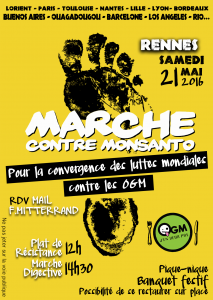 Flyers Marche contre Monsanto 2016