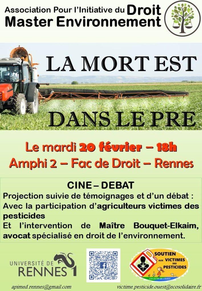 """RENNES Fac de sciences ciné-débat """"la mort est dans le pré"""" @ Fac de sciences   Rennes   Bretagne   France"""