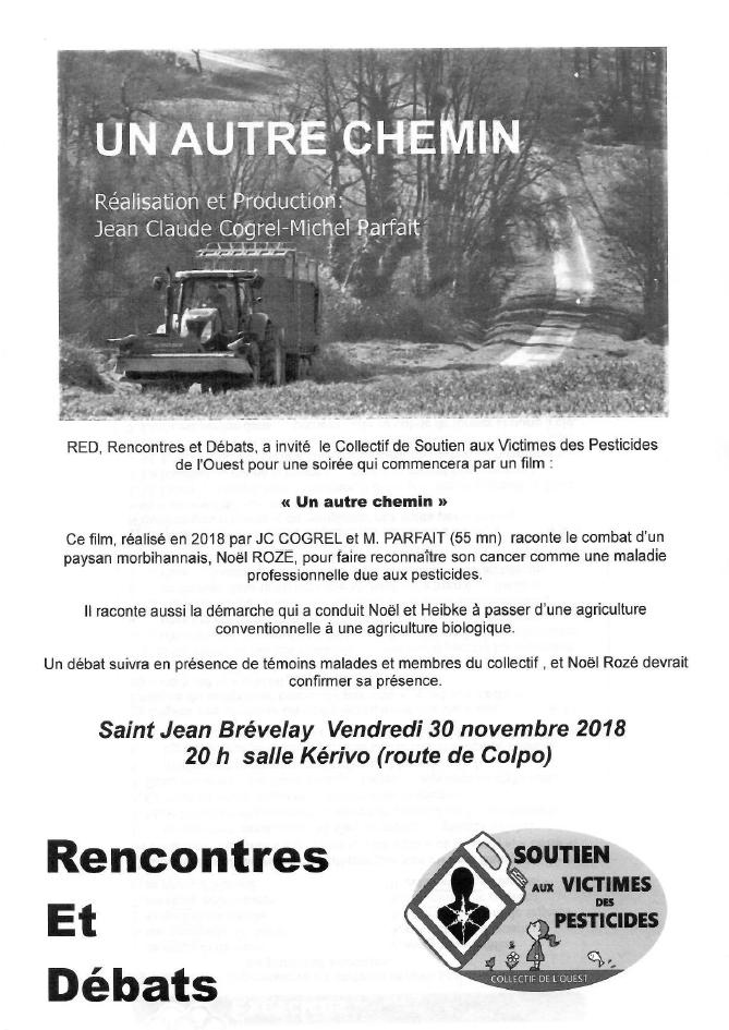 ST JEAN BREVELAY (56) : ciné-débat @ salle Kerivo (route de Colpo) | Saint-Jean-Brévelay | Bretagne | France