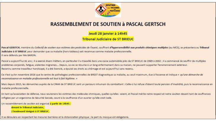 Rassemblement de soutien à Pascal Gertsch